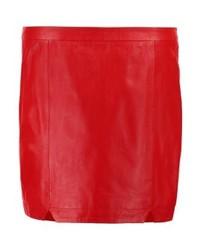 Minigonna in pelle rossa di Gestuz
