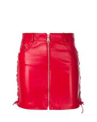 Minigonna in pelle rossa di Manokhi
