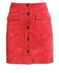 Minigonna in pelle rossa di Pepe Jeans