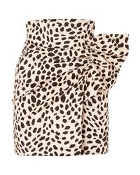 Minigonna leopardata marrone chiaro di Silvia Tcherassi