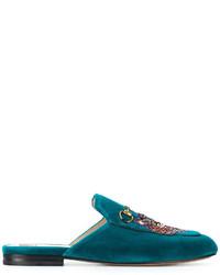 Mocassini eleganti foglia di tè di Gucci