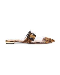 Mocassini eleganti in cavallino leopardati marrone chiaro