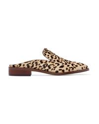 Mocassini eleganti in cavallino leopardati marroni