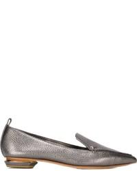 Mocassini eleganti in pelle argento di Nicholas Kirkwood