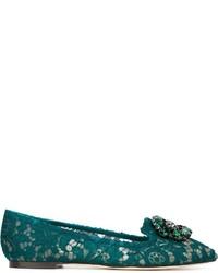 Mocassini eleganti in pelle foglia di tè di Dolce & Gabbana