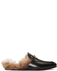 Mocassini eleganti in pelle neri di Gucci