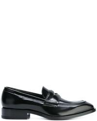 Mocassini eleganti in pelle neri di Jil Sander