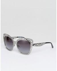 Occhiali da sole argento di Dolce & Gabbana