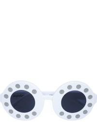 Occhiali da sole bianchi di Linda Farrow