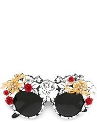 Occhiali da sole decorati neri di Dolce & Gabbana