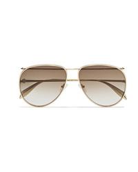 Occhiali da sole dorati di Alexander McQueen
