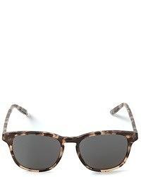 Occhiali da sole leopardati marrone scuro di Bottega Veneta