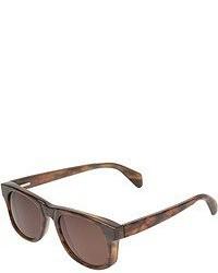 Occhiali da sole leopardati marrone scuro di The Elder Statesman
