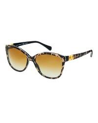 Occhiali da sole leopardati marroni di Dolce & Gabbana