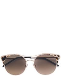 Occhiali da sole leopardati marroni