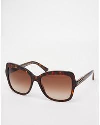 Occhiali da sole marrone scuro di Dolce & Gabbana