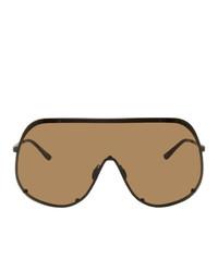 Occhiali da sole marroni di Rick Owens