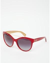 Occhiali da sole rossi di Dolce & Gabbana