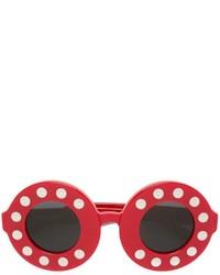 Occhiali da sole rossi di Linda Farrow
