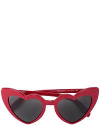 Occhiali da sole rossi di Saint Laurent