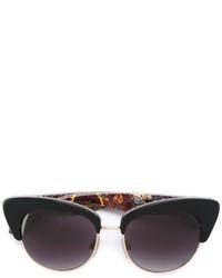 Occhiali da sole stampati neri di Dolce & Gabbana