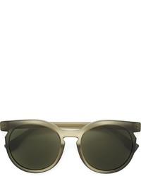Occhiali da sole verde oliva di Fendi