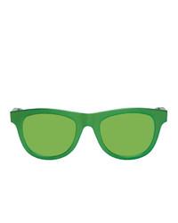 Occhiali da sole verdi di Bottega Veneta