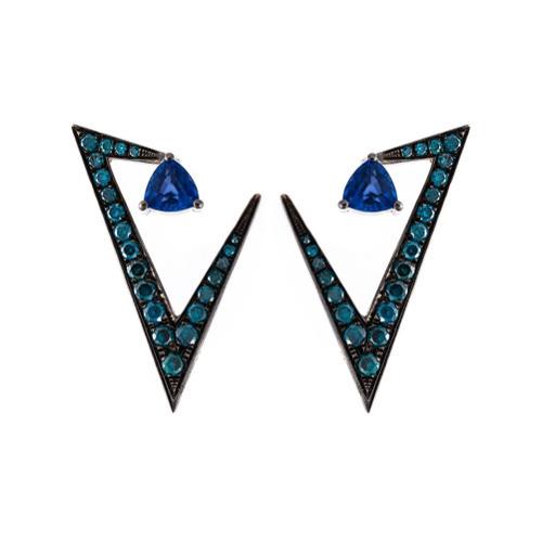 Orecchini blu scuro di Nikos Koulis