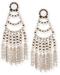 Orecchini con perline bianchi