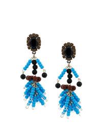 Orecchini con perline blu di Marni