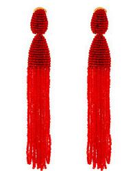 Orecchini con perline rossi