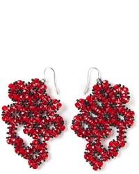 Orecchini con perline rossi di Maria Calderara
