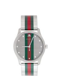 Orologio a righe orizzontali verde e rosso di Gucci