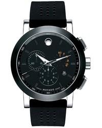 Orologio di gomma nero