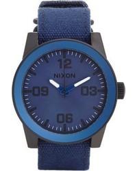 Orologio di tela blu scuro