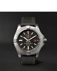 Orologio di tela grigio scuro di Breitling