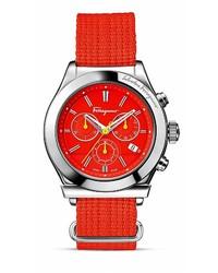 Orologio di tela rosso