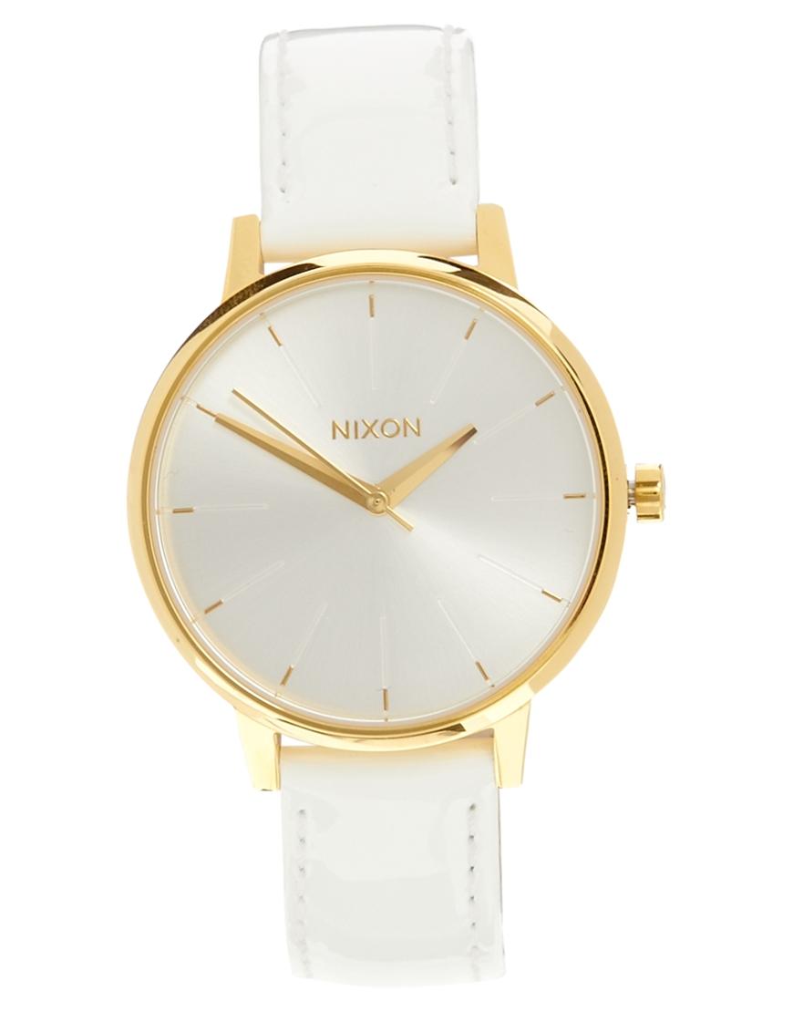 Orologio in pelle bianco di Nixon