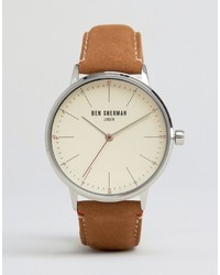 Orologio in pelle marrone di Ben Sherman