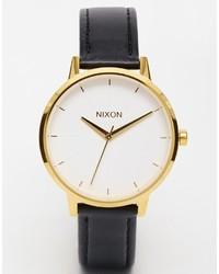 Orologio in pelle nero e dorato di Nixon