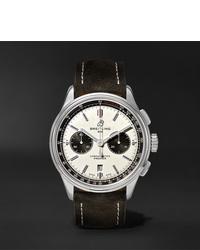 Orologio in pelle nero di Breitling