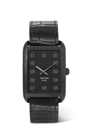 Orologio in pelle nero di Tom Ford Timepieces