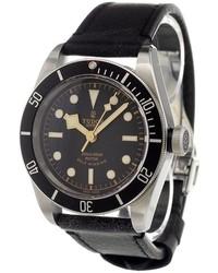 Orologio in pelle nero di Tudor