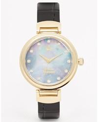 Orologio in pelle nero di Vivienne Westwood