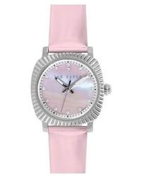 Orologio in pelle rosa