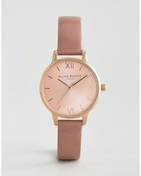 Orologio in pelle rosa di Olivia Burton