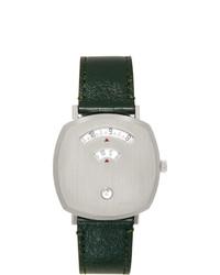 Orologio in pelle verde scuro di Gucci