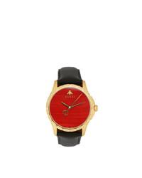 Orologio rosso e nero di Gucci