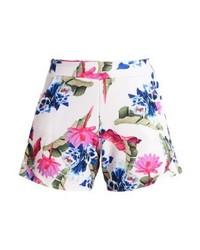 Pantaloncini a fiori bianchi di LOST INK
