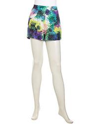 Pantaloncini a fiori multicolori